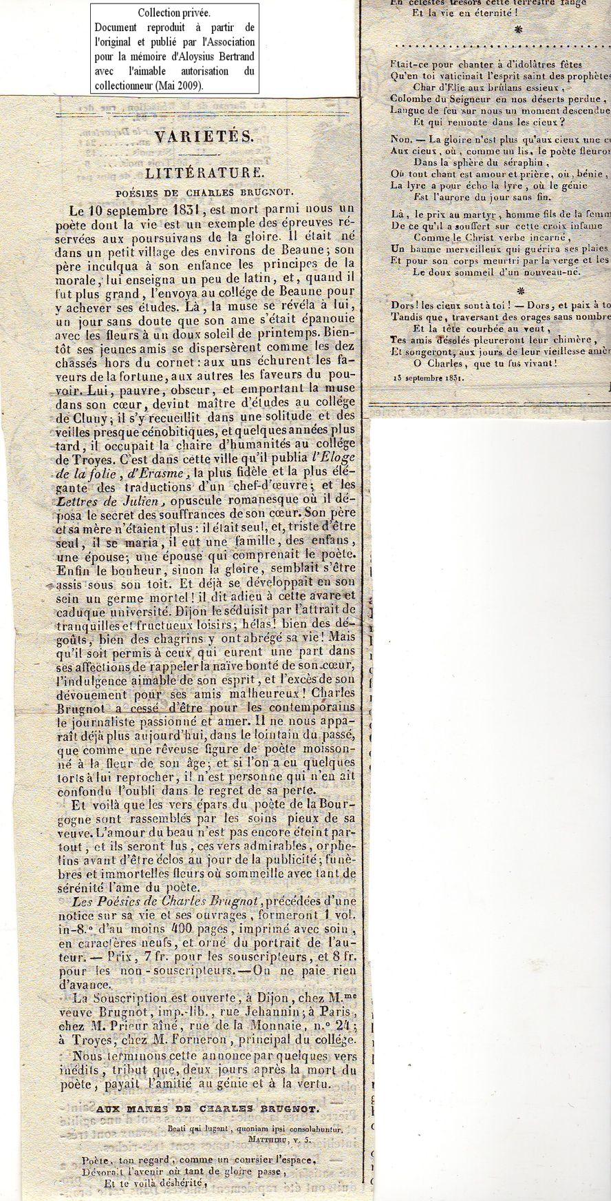 Article L.Bertrand sur Ch.Brugnot